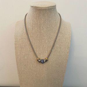 Crystal Pave Slider Necklace